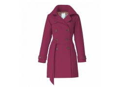 Happy rainy Days Trenchcoat met capuchon Roselyn donker roze XL